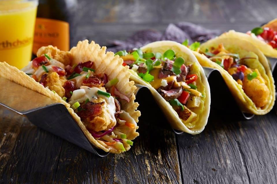 A trio of tacos from Velvet Taco