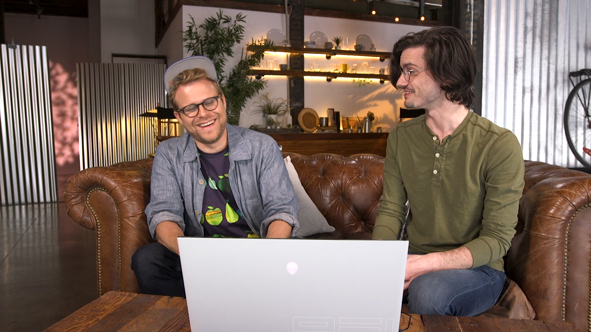 Adam Conover and Pat
