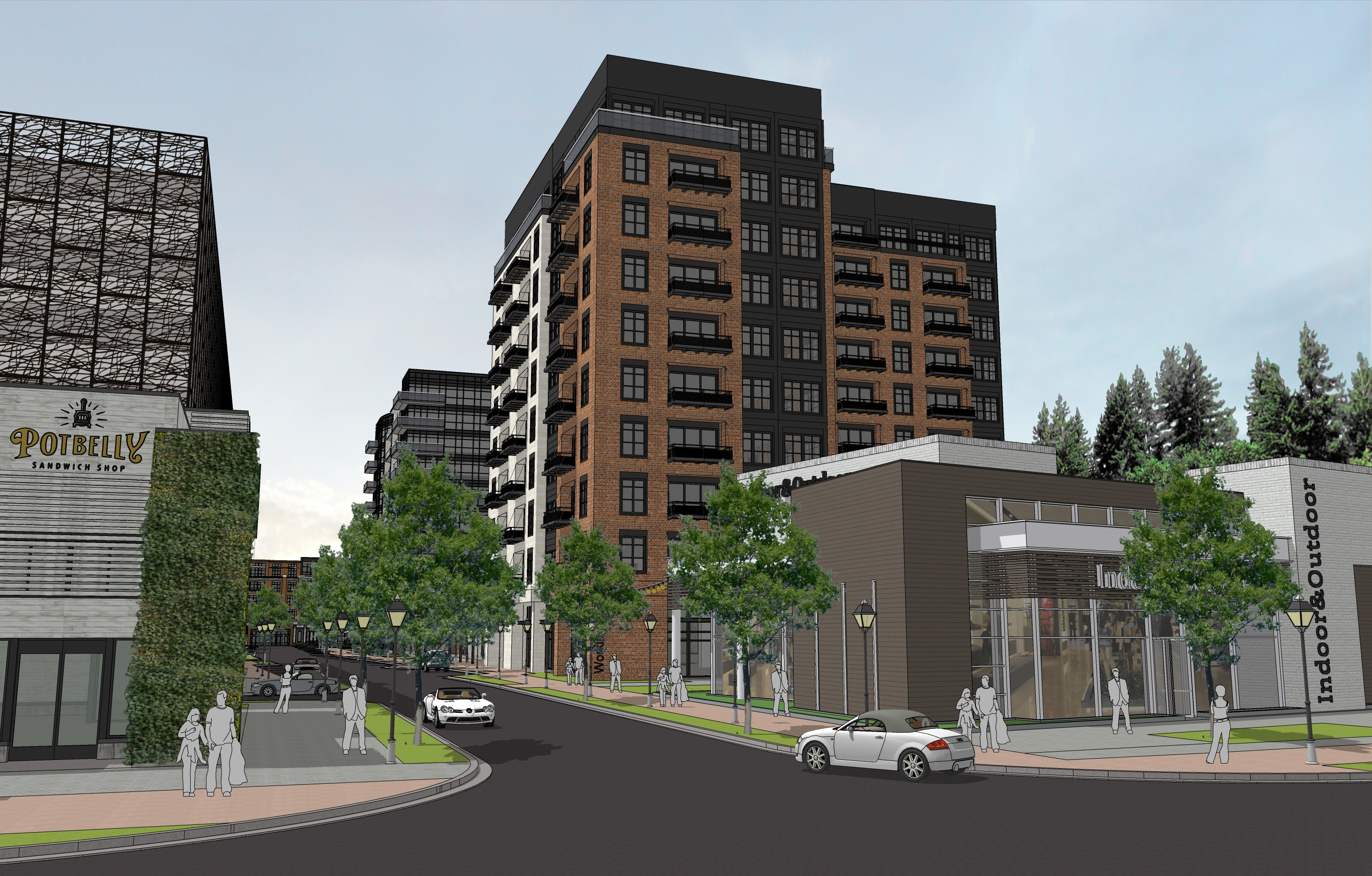 a rendering of the mixed-use planned for the bankhead marta station