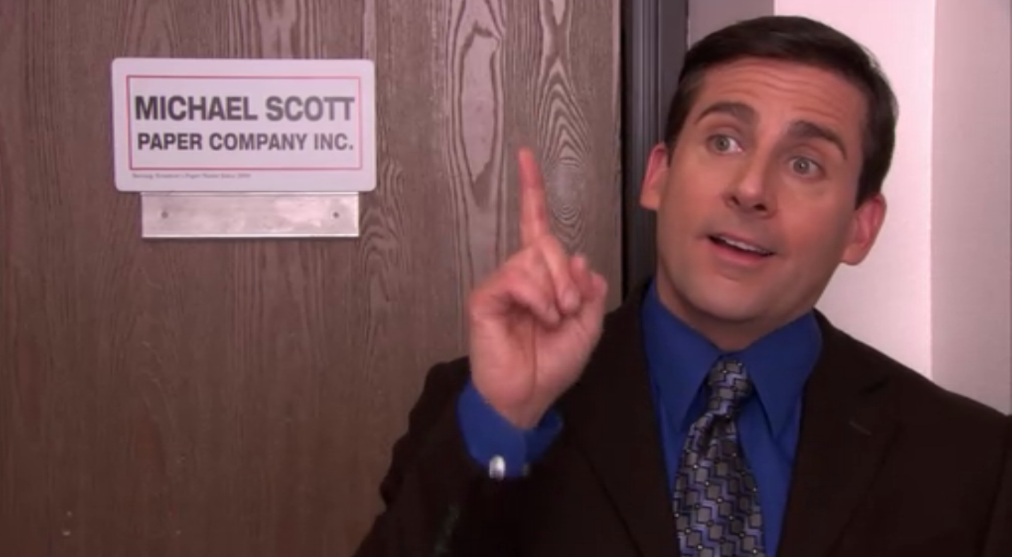 """Steven Carrell in """"The Office."""""""