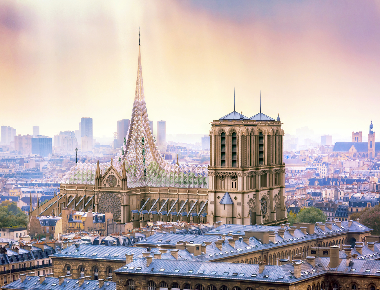 Notre Dame envisioned as net-zero building with greenhouse