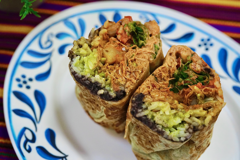A chicken burrito from Muchas Gracias.