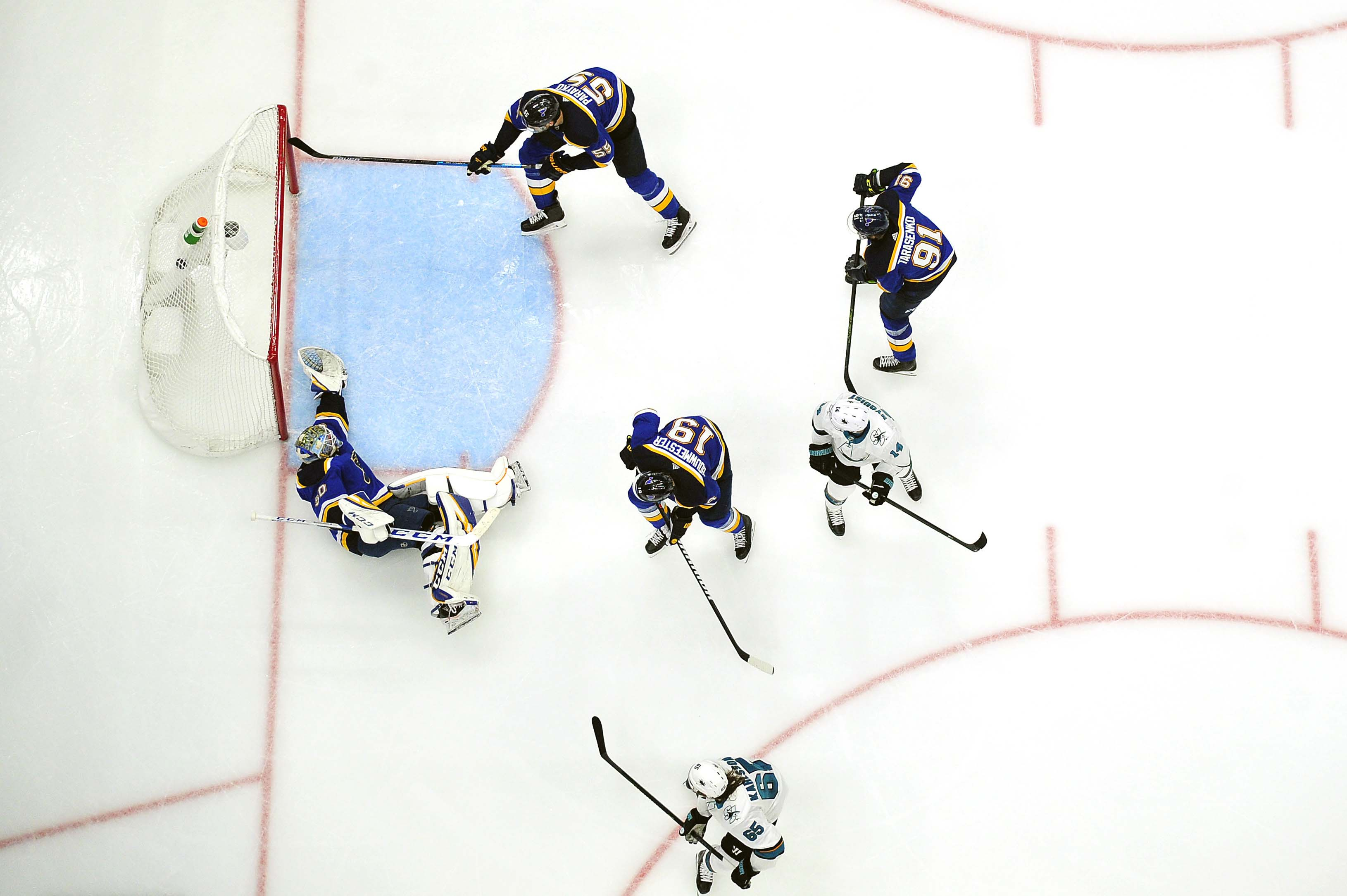 NHL: Stanley Cup Playoffs-San Jose Sharks at St. Louis Blues during Game 3 of the western conference final May 15, 2019