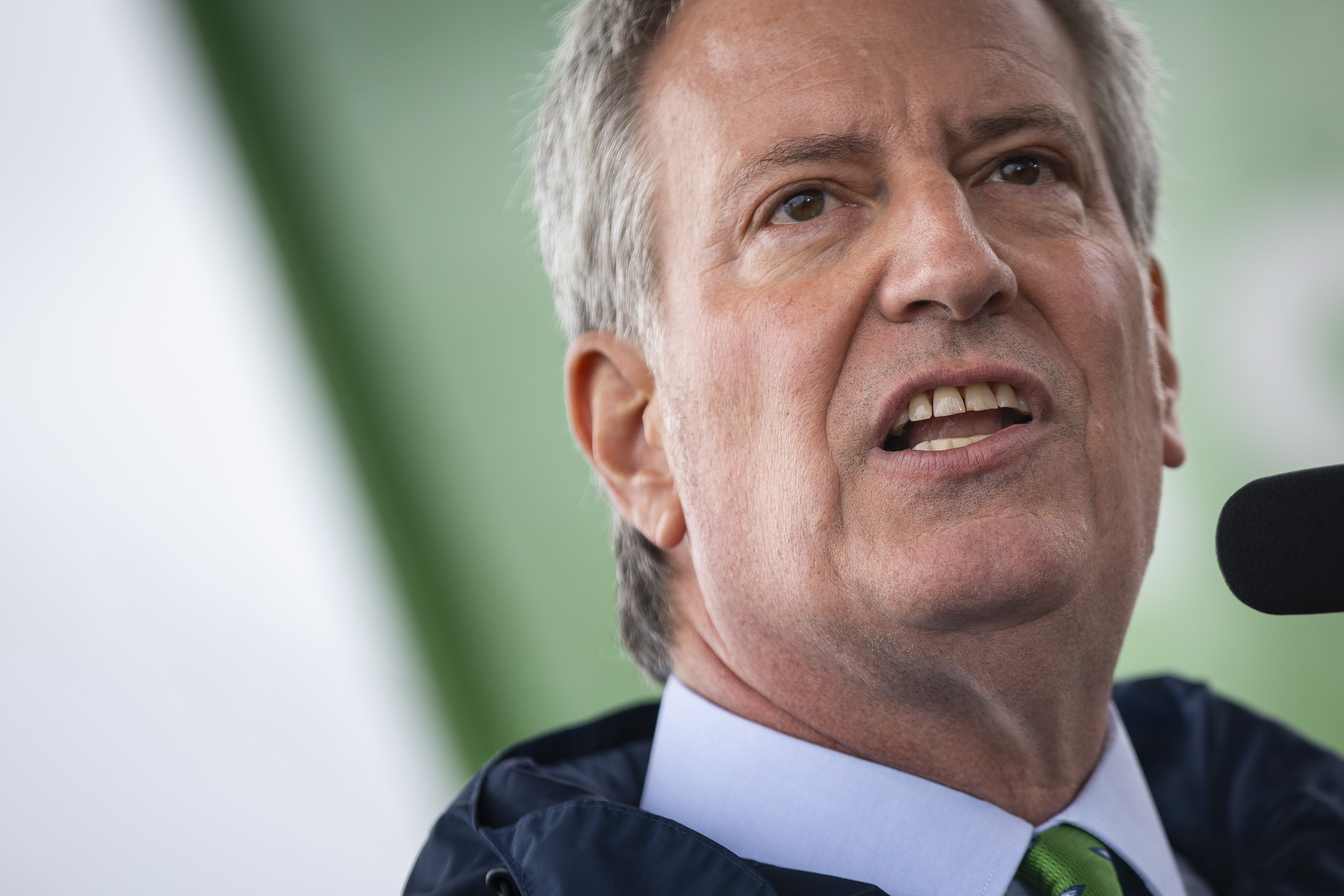 """Mayor Bill De Blasio Discusses NYC's """"Green New Deal"""" On Earth Day"""