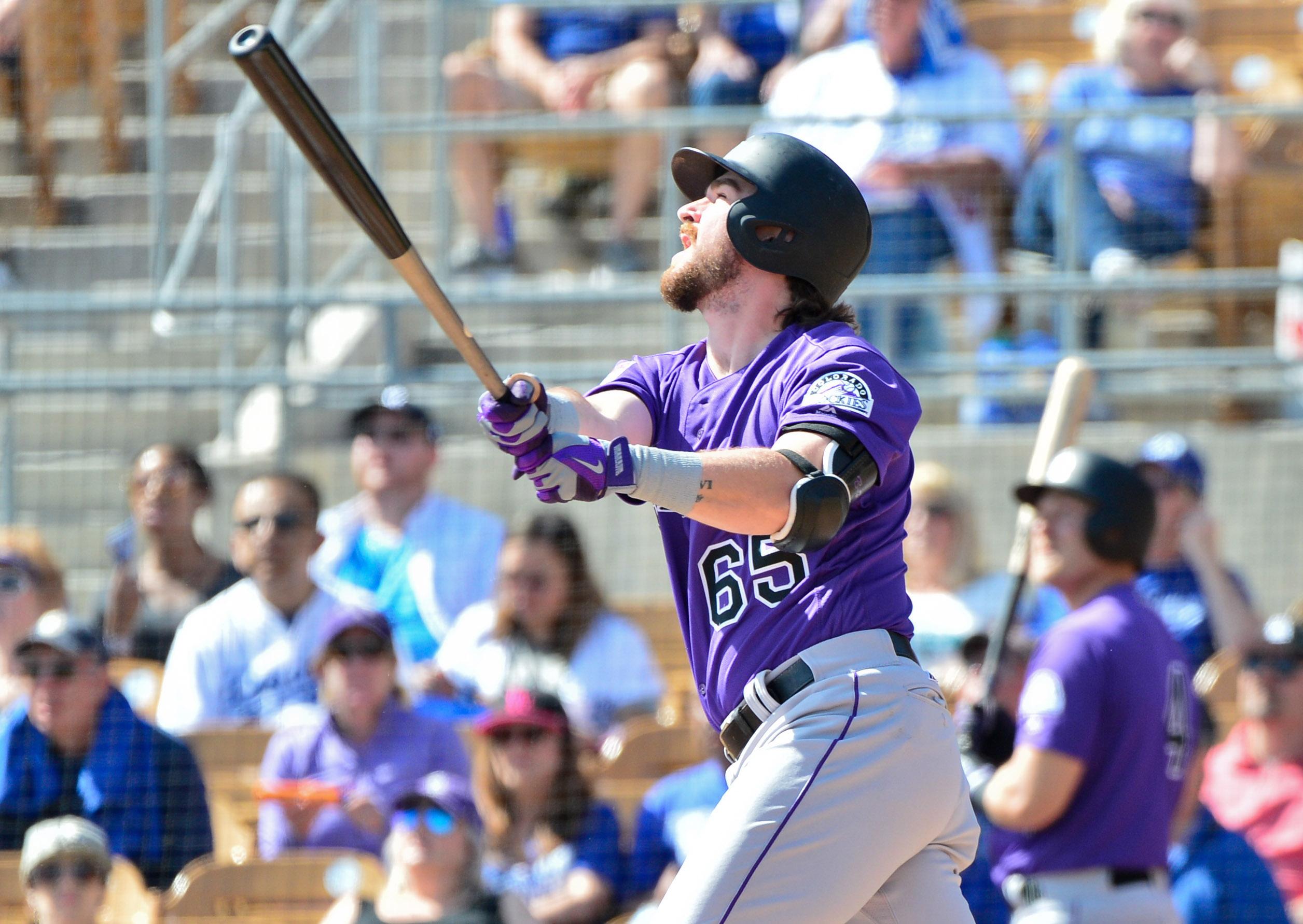 MLB: Spring Training-Colorado Rockies at Los Angeles Dodgers