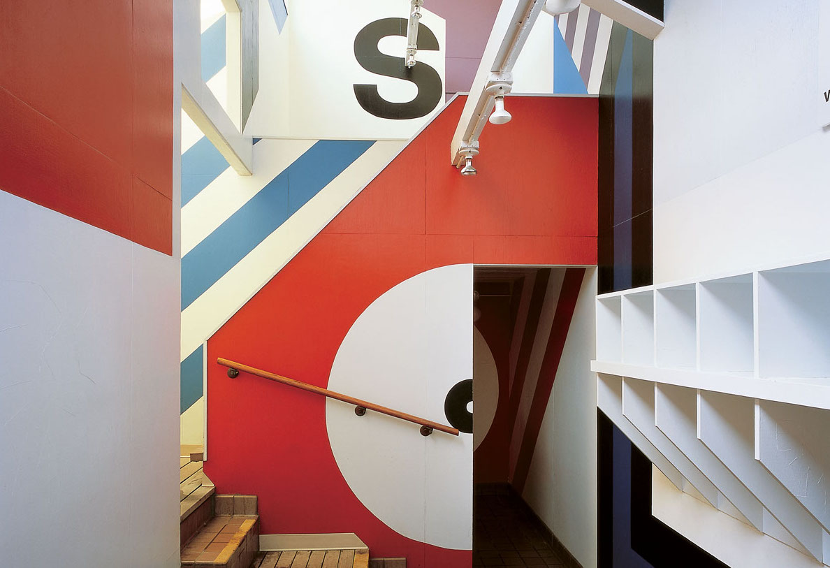 The Sea Ranch's Moonraker Athletic Center, featuring supergraphics by Barbara Stauffacher Solomon.