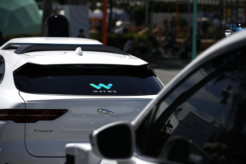 A Waymo self-driving vehicle in Mountain View, California in May 2018.