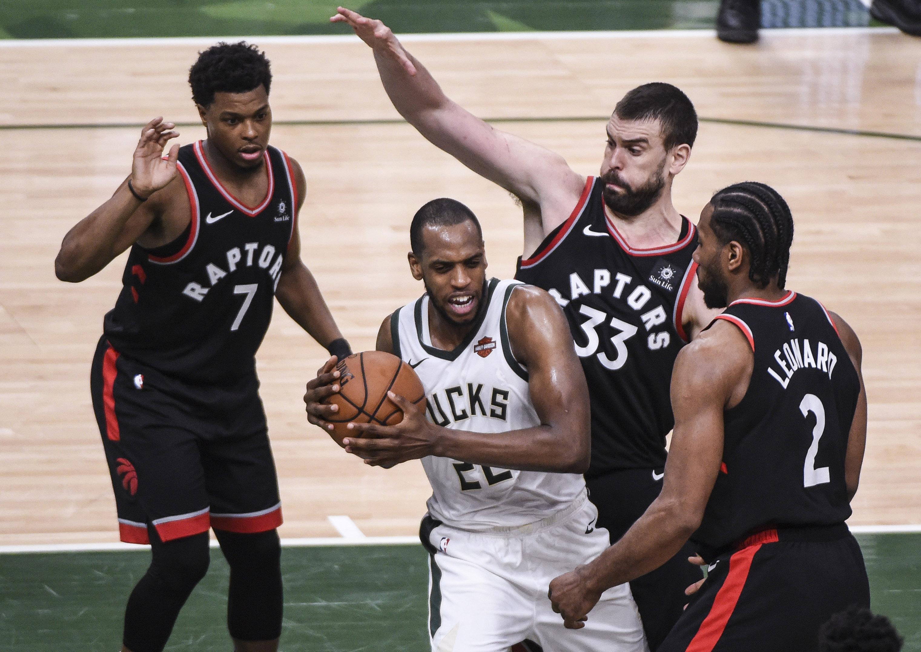 Raptors seek rebound as Game 2 underdogs at Bucks