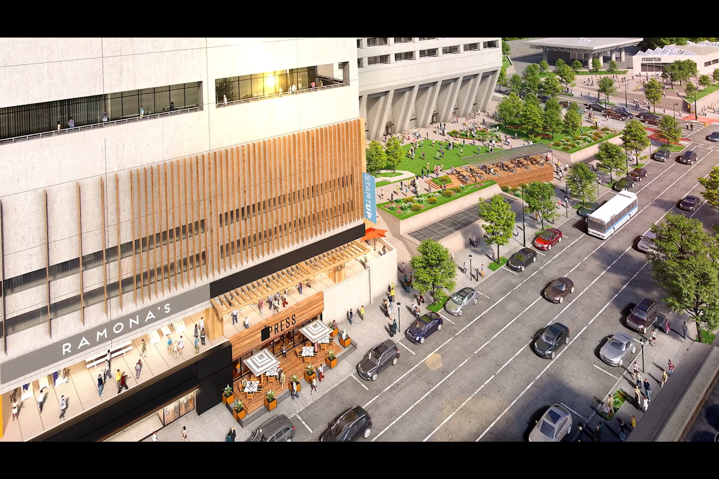 Renderings: Midtown's AT&T campus could be reborn as pedestrian-friendly 'Tower Square'
