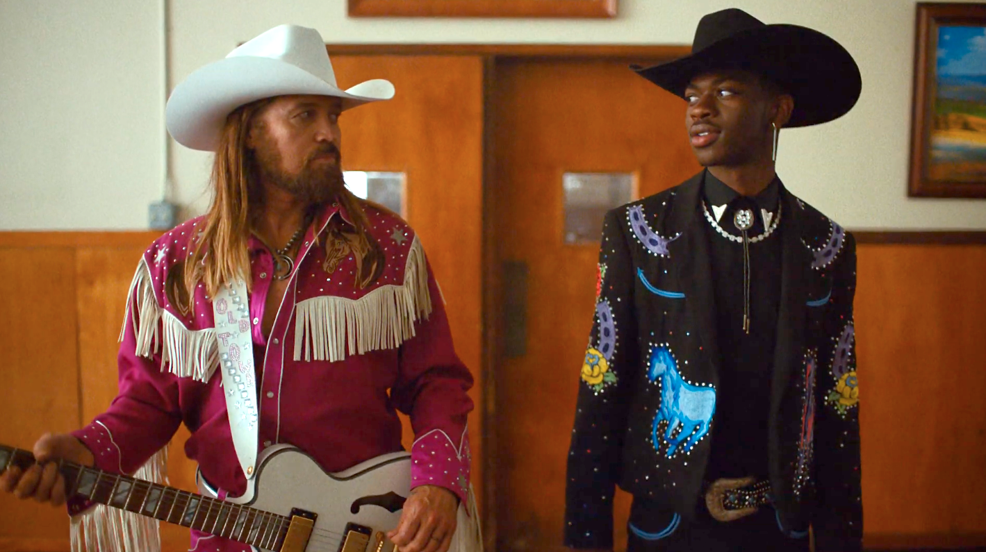 lil nas x and billy ray cyrus in old town road video