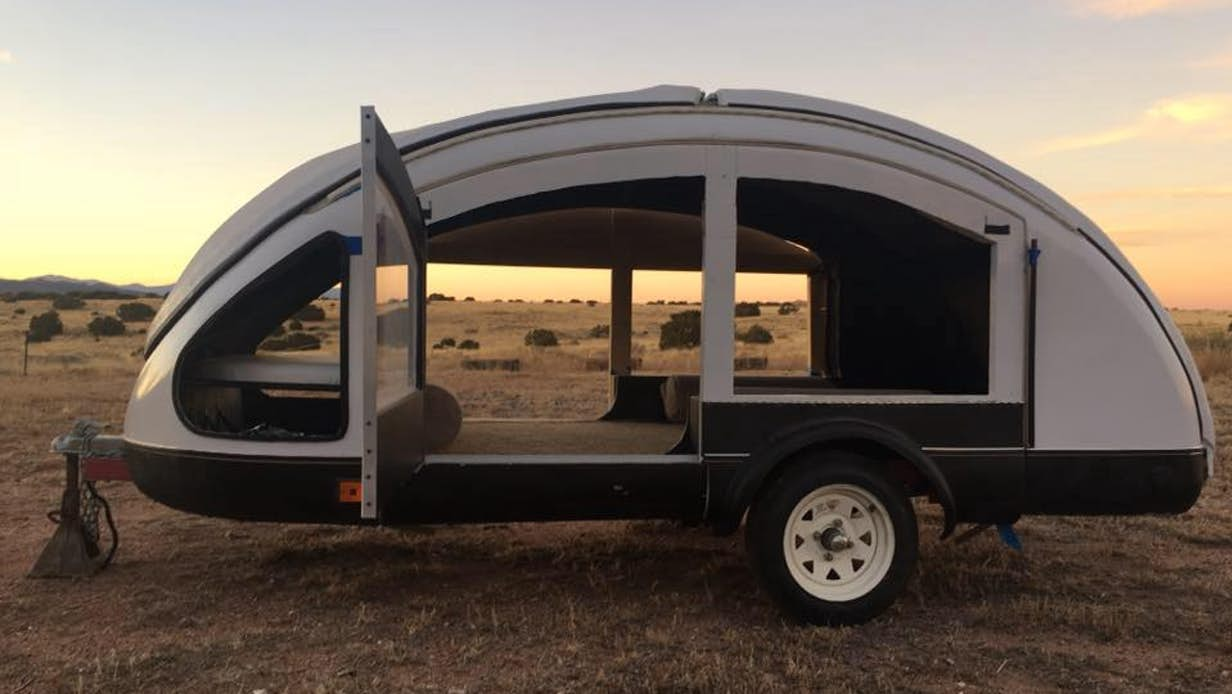 Futuristic camper trailer may be the lightest ever made