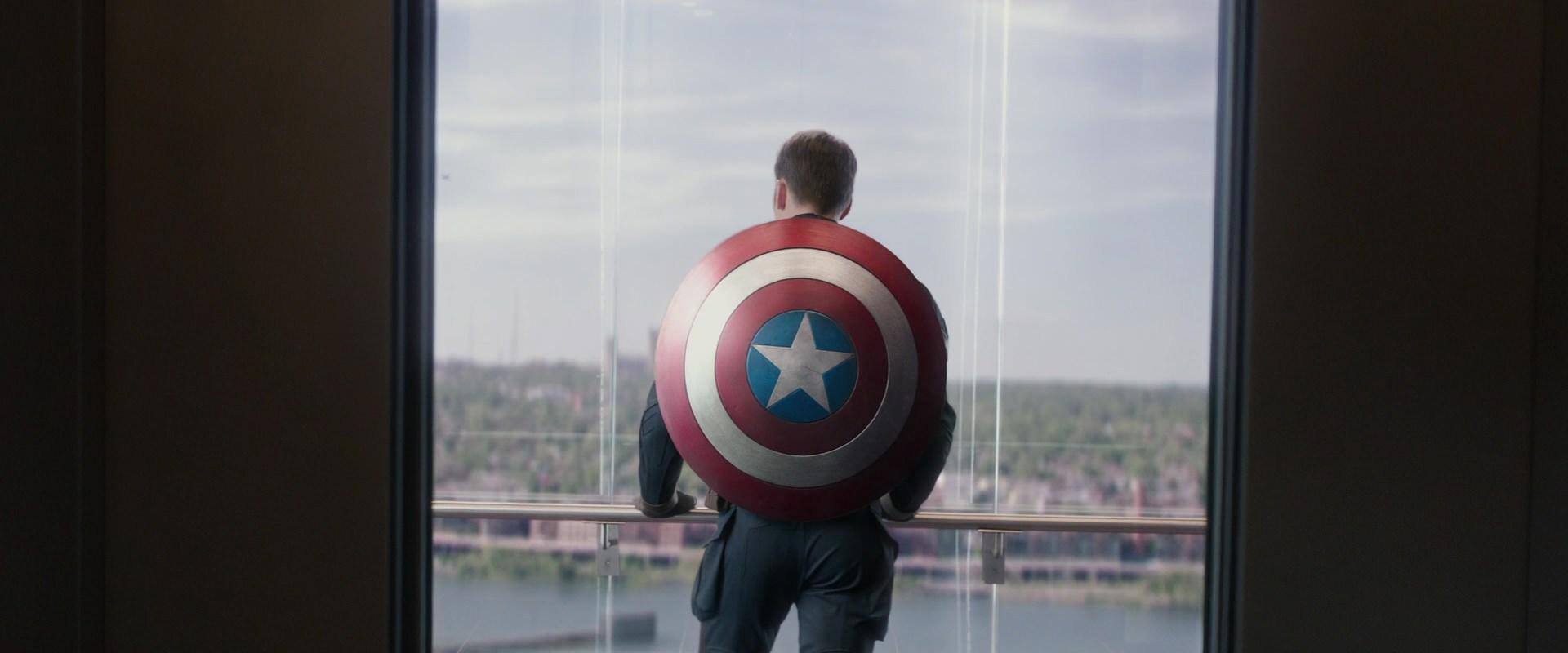 Chris Evans as Steve Rogers in Captain America: The Winter Soldier.