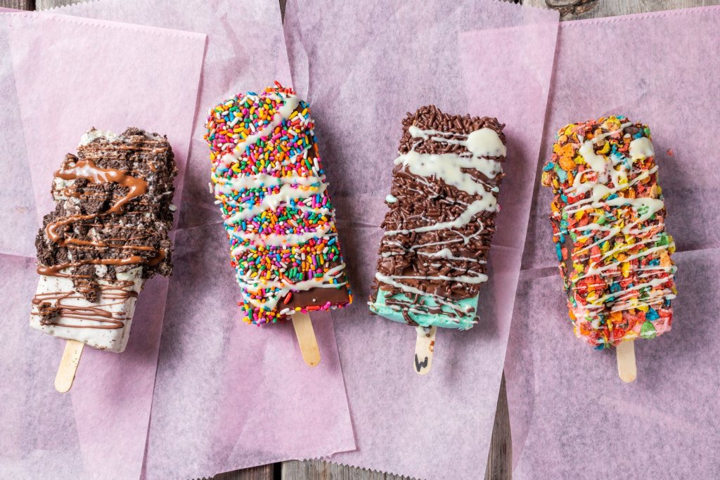 Ice cream bars from Gordo's.