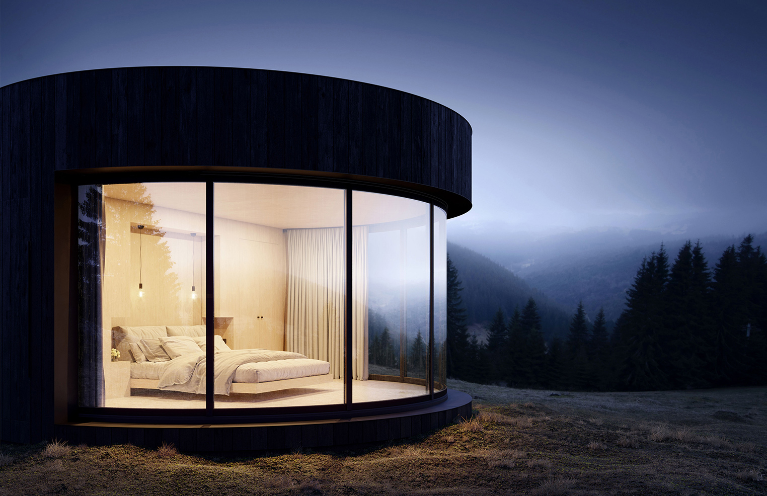 Circular prefab pod offers next-level glamping
