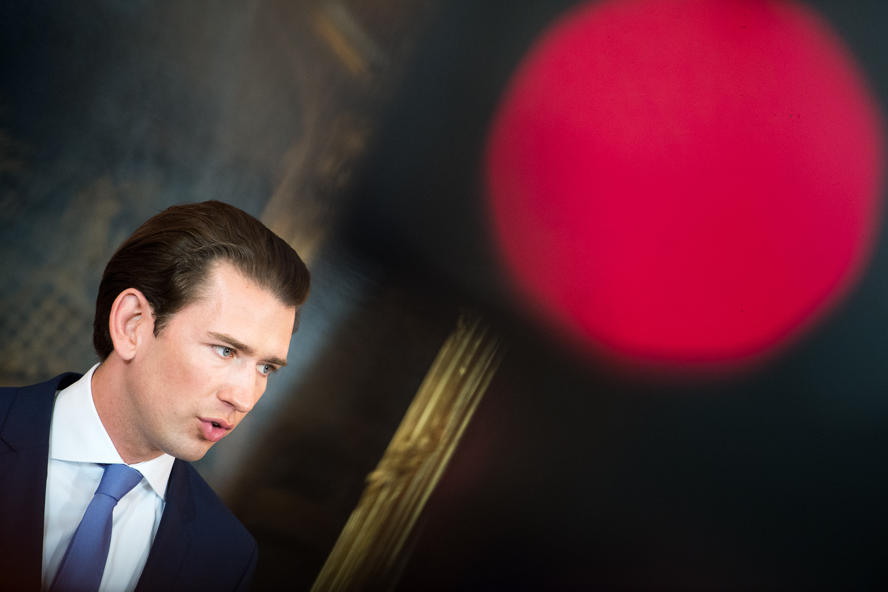 Austrian Chancellor Sebastian Kurz speaks to the media on May 19, 2019 in Vienna, Austria. He announced Austria will hold snap elections in September following the withdrawal by Kurz from the governing coalition.