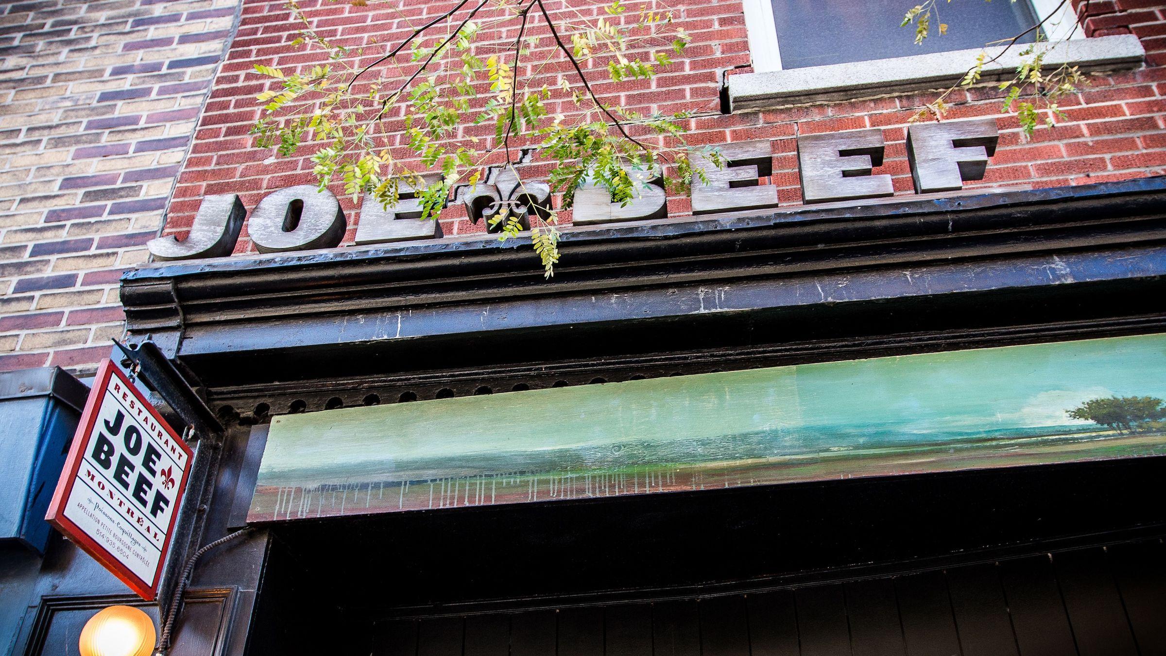 The exterior of Joe Beef