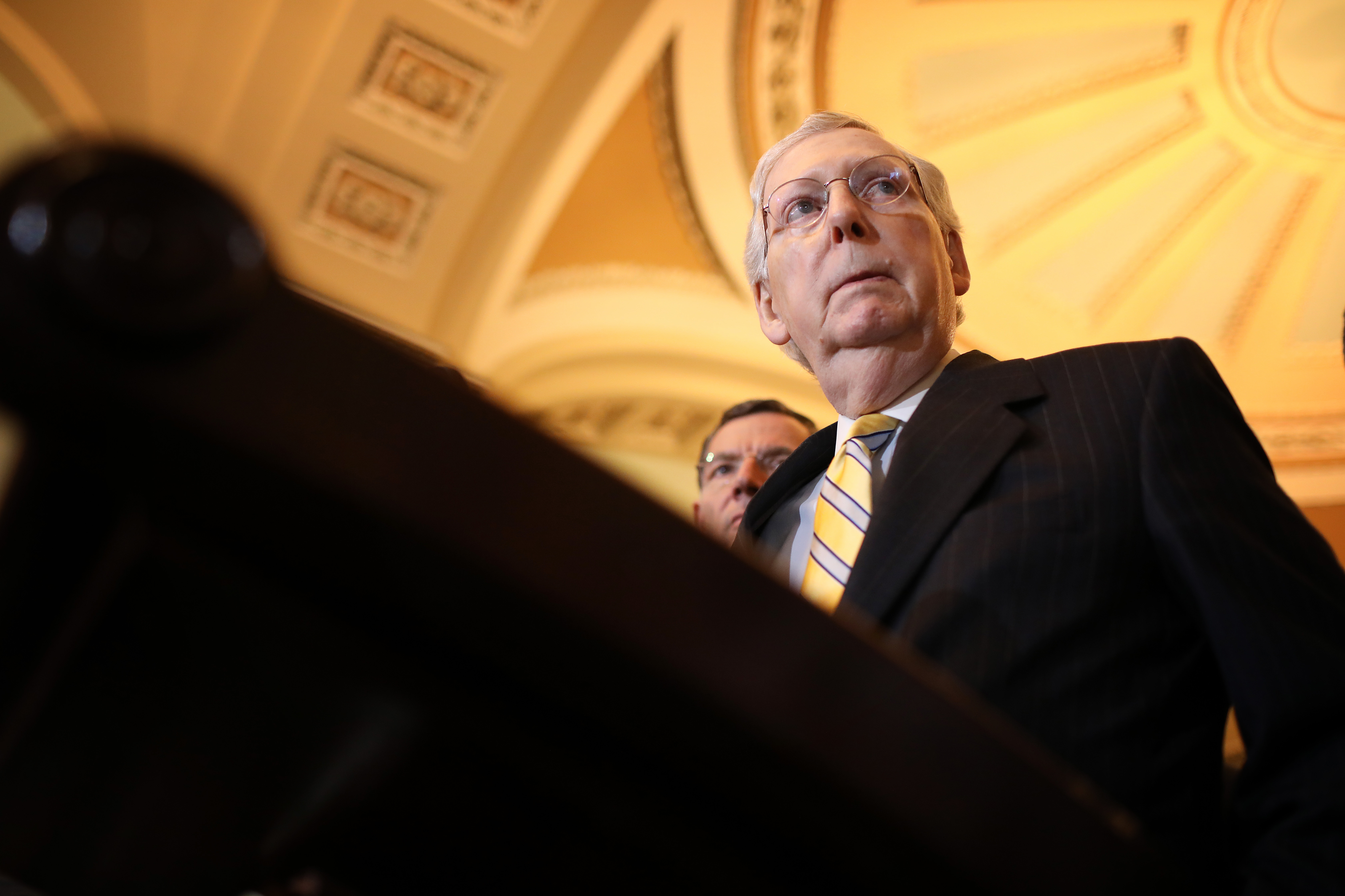 Election security bills in the Senate are hitting one big roadblock: Mitch McConnell