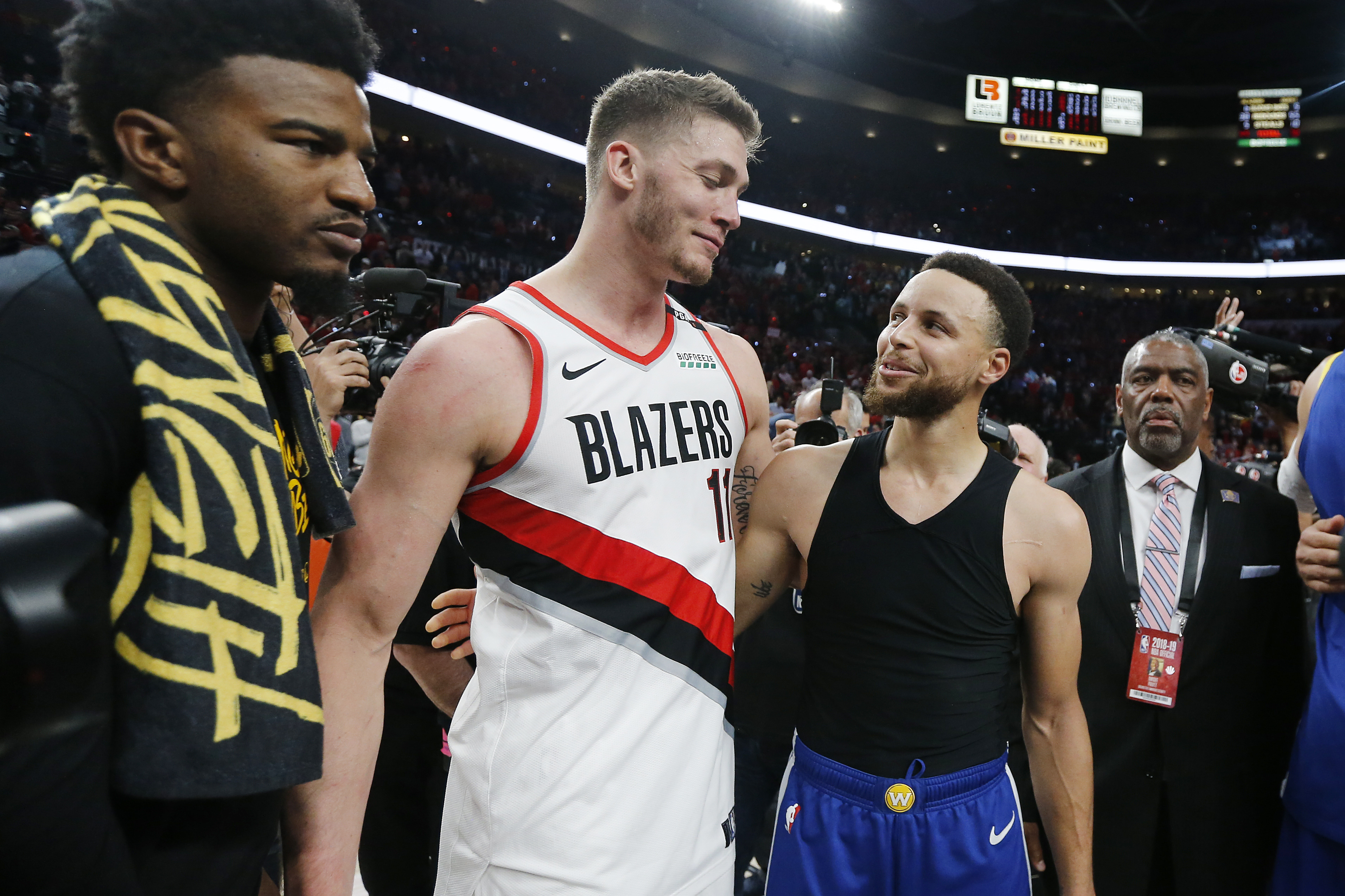 That Blazers-Warriors series was drunk