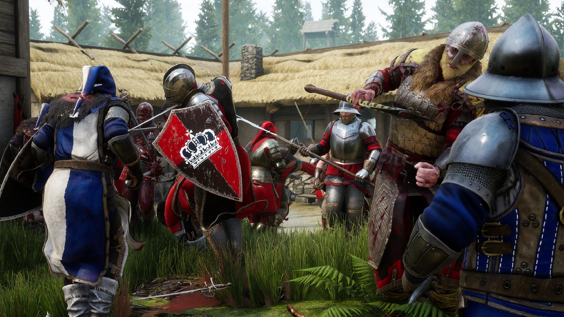Mordhau players bust through map, reach character select screen