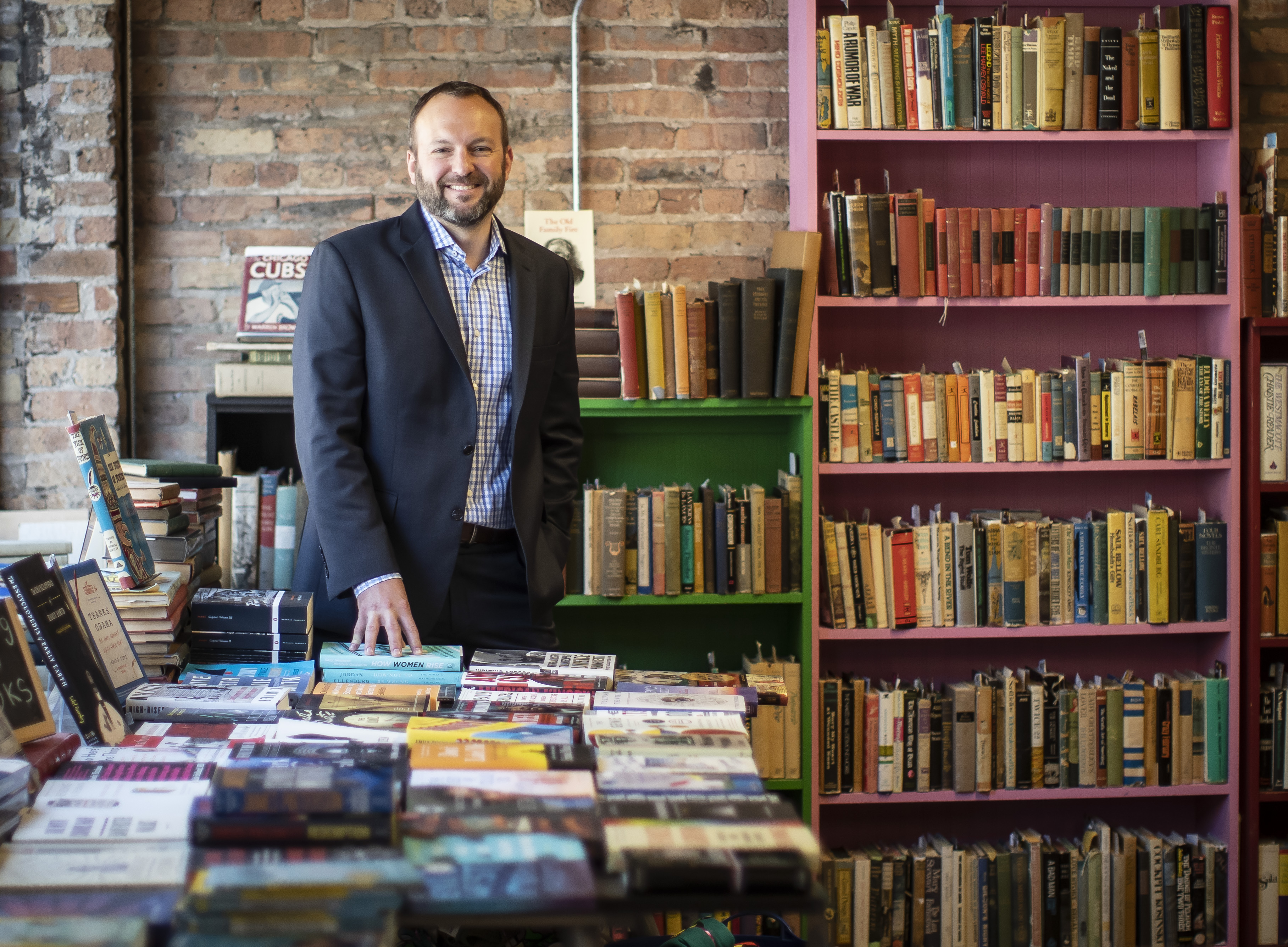 Eric B. Johnson is the executive director of OpenBooks/Imagination Library, which provides free books and literacy programs to underserved children in Chicago.
