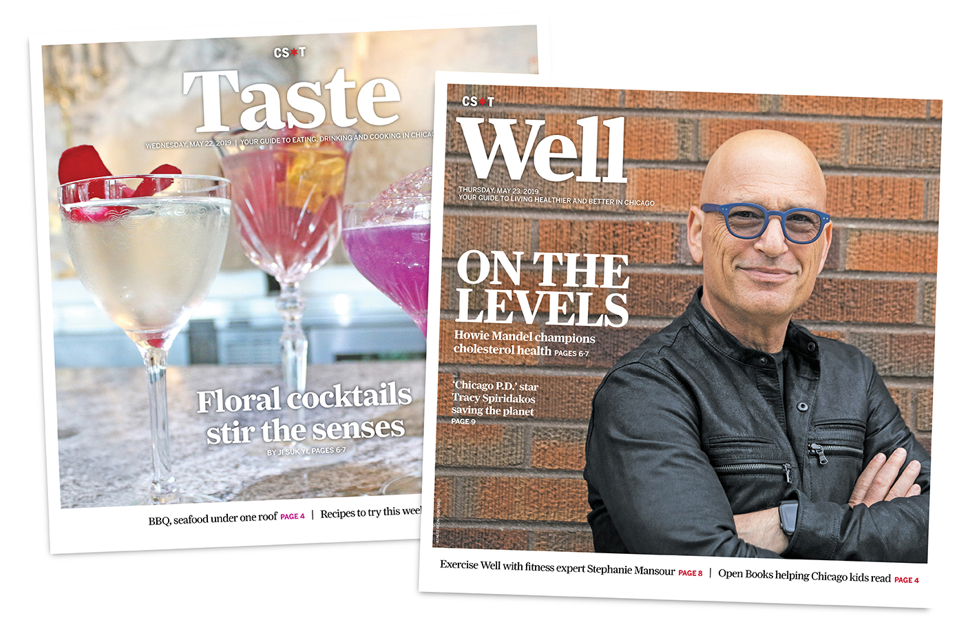 Photos of the revamped Taste and Well sections that are debuting in the Sun-Times this week.
