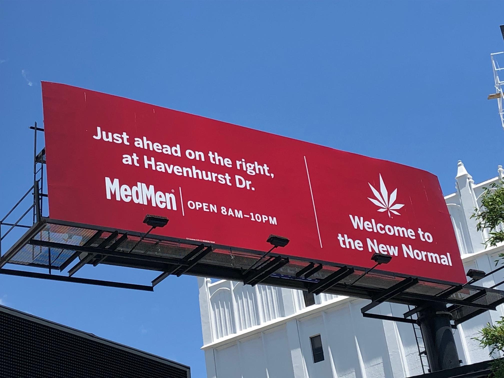 MedMen billboard in Los Angeles