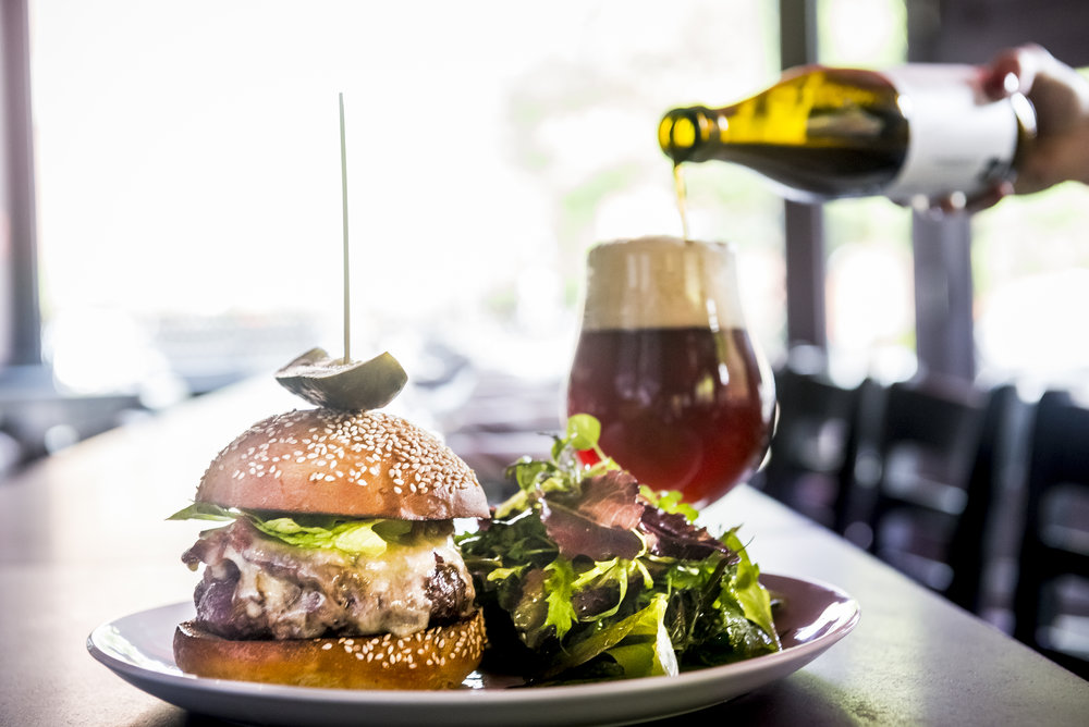 Burger and beer at the Butcher Shop