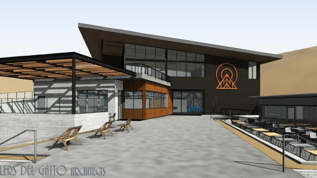 A rendering of the new lodge at Las Vegas Ski & Snowboard Resort