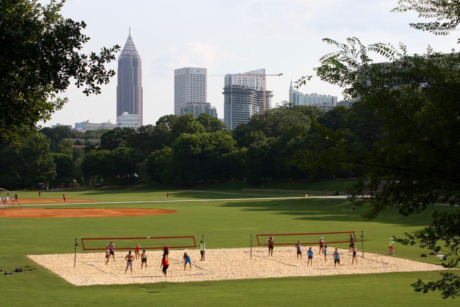 Volleyball in Piedmont Park last summer.