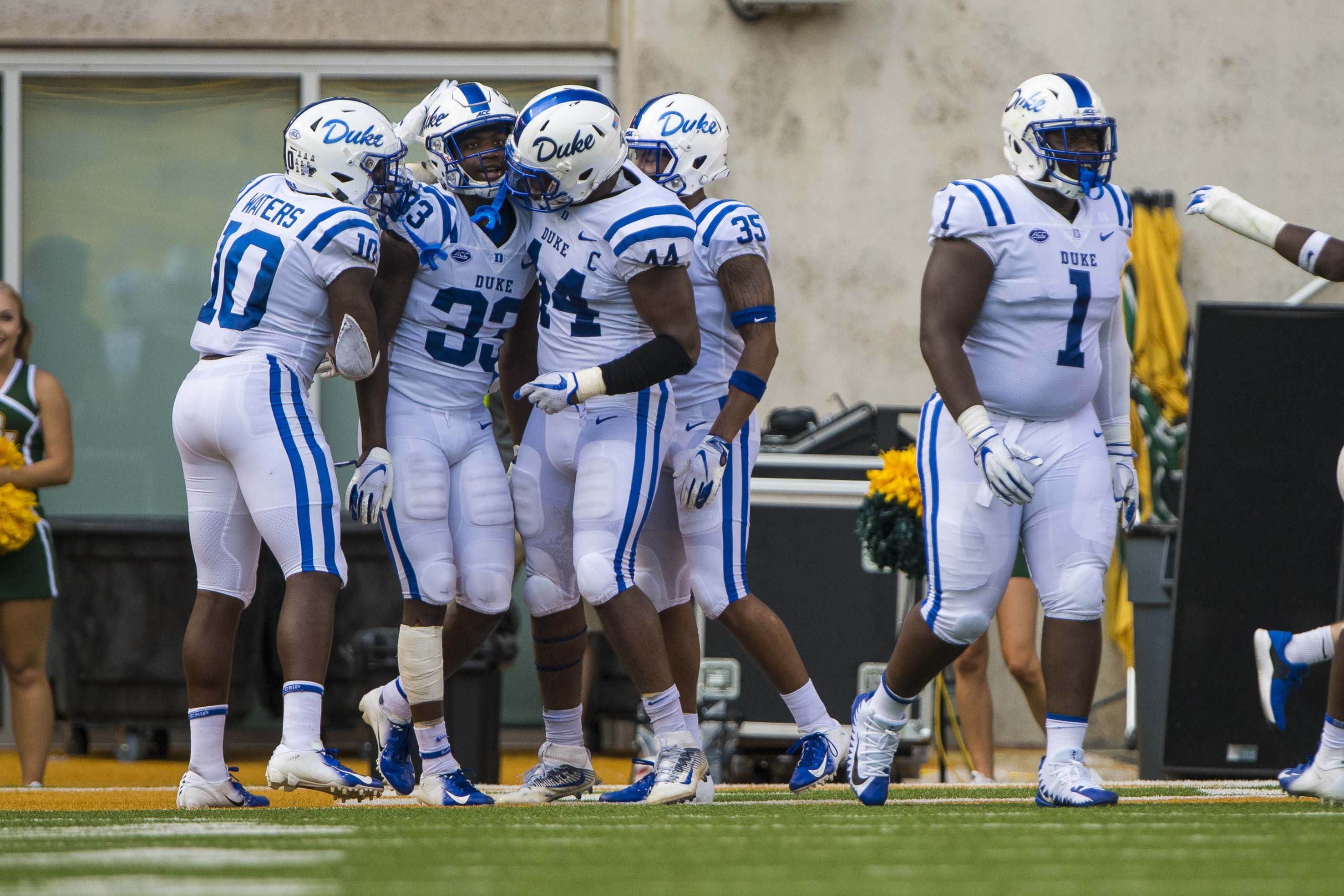 Duke's steady and full of upside in football. We don't talk enough about how wild that is