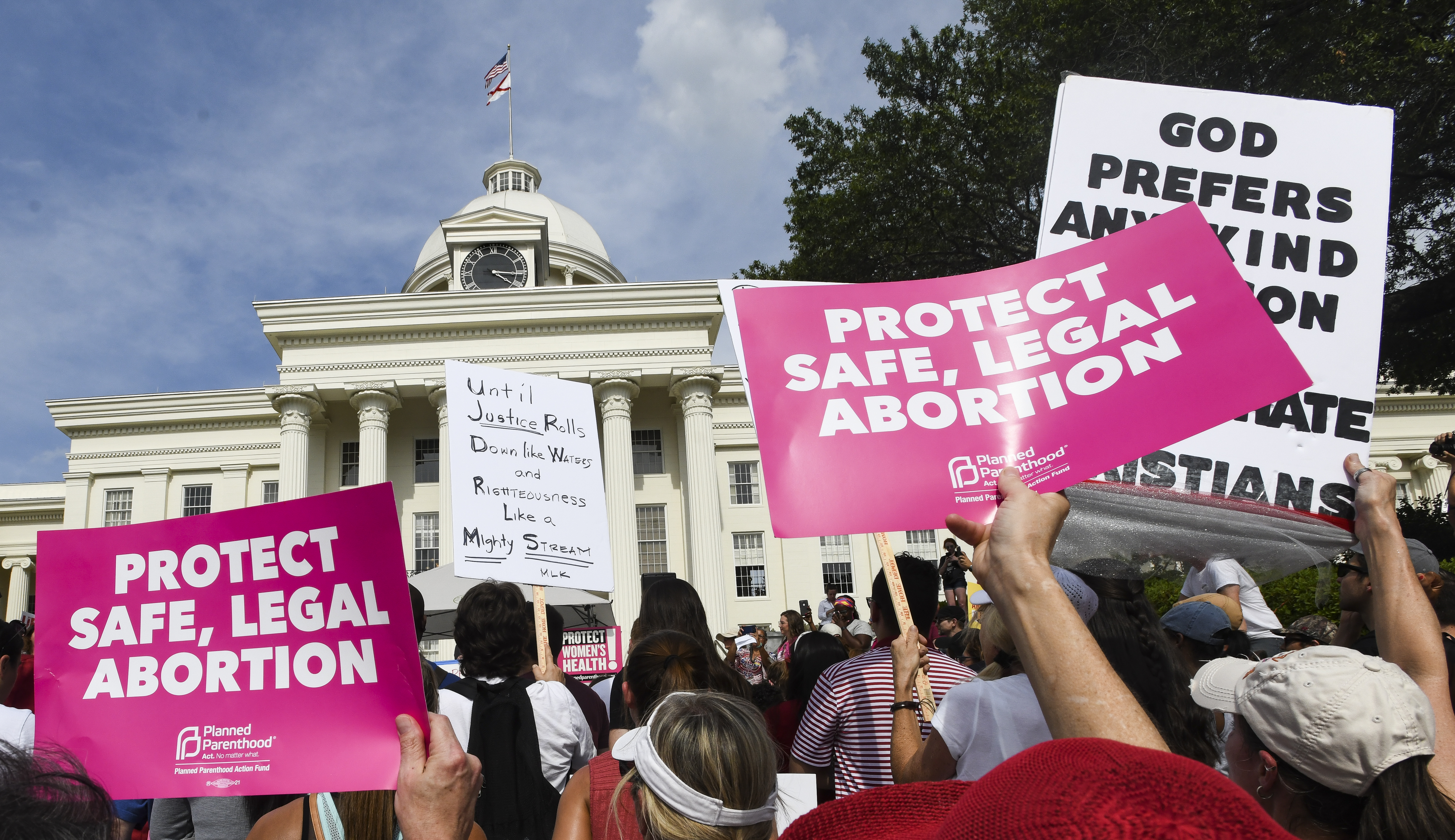 Alabama's abortion ban is being challenged in court by the ACLU and Planned Parenthood