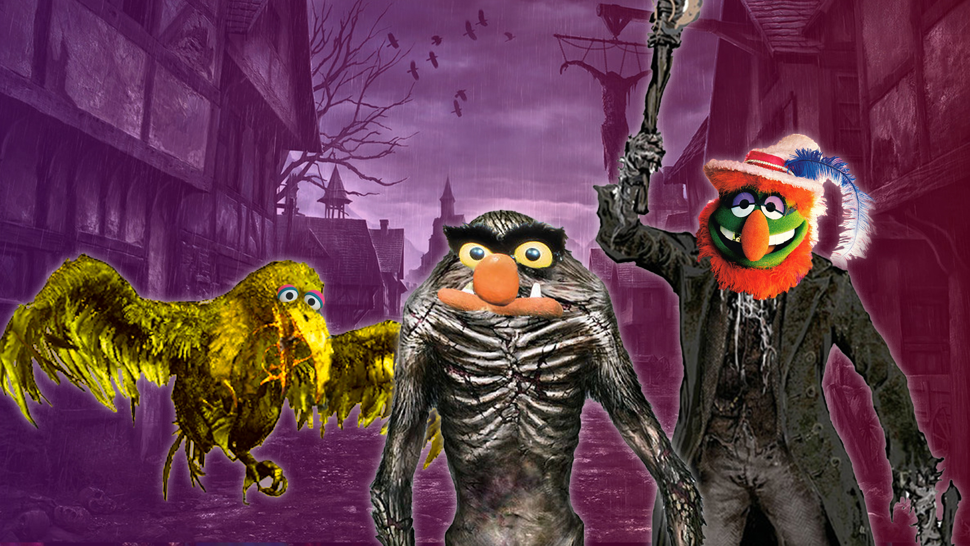 bloodborne monsters as muppets