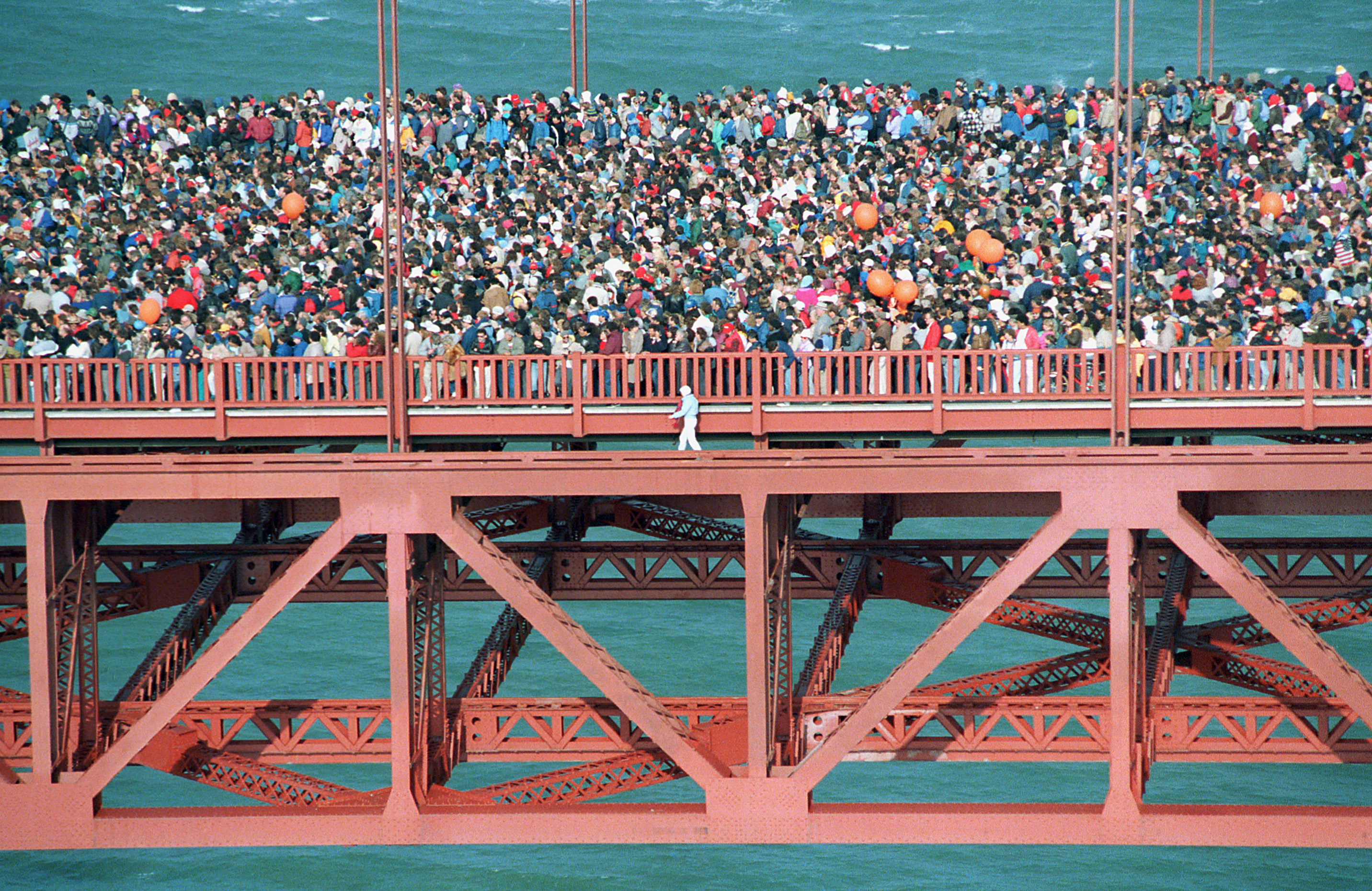 32 years ago today hundreds of thousands of people gathered on the Golden Gate Bridge