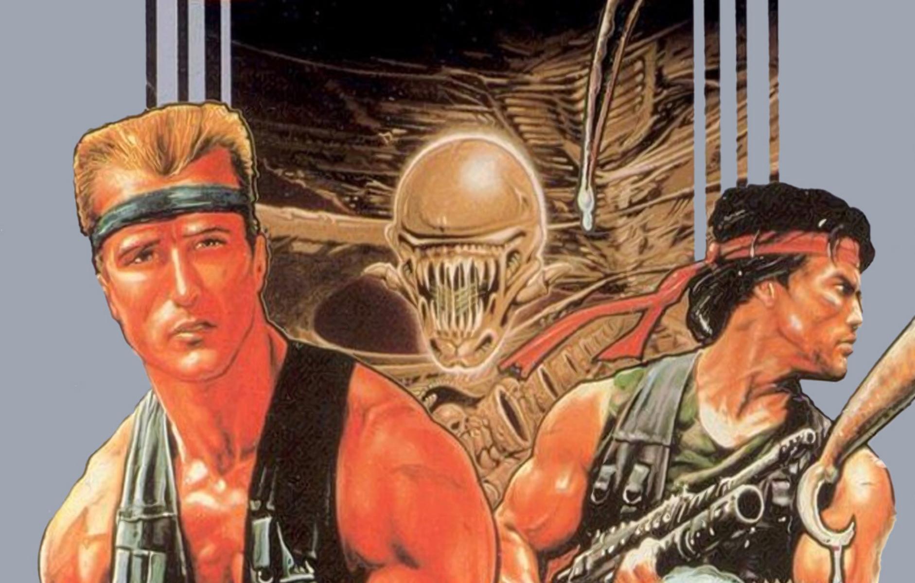 Artwork from the original NES Contra box.