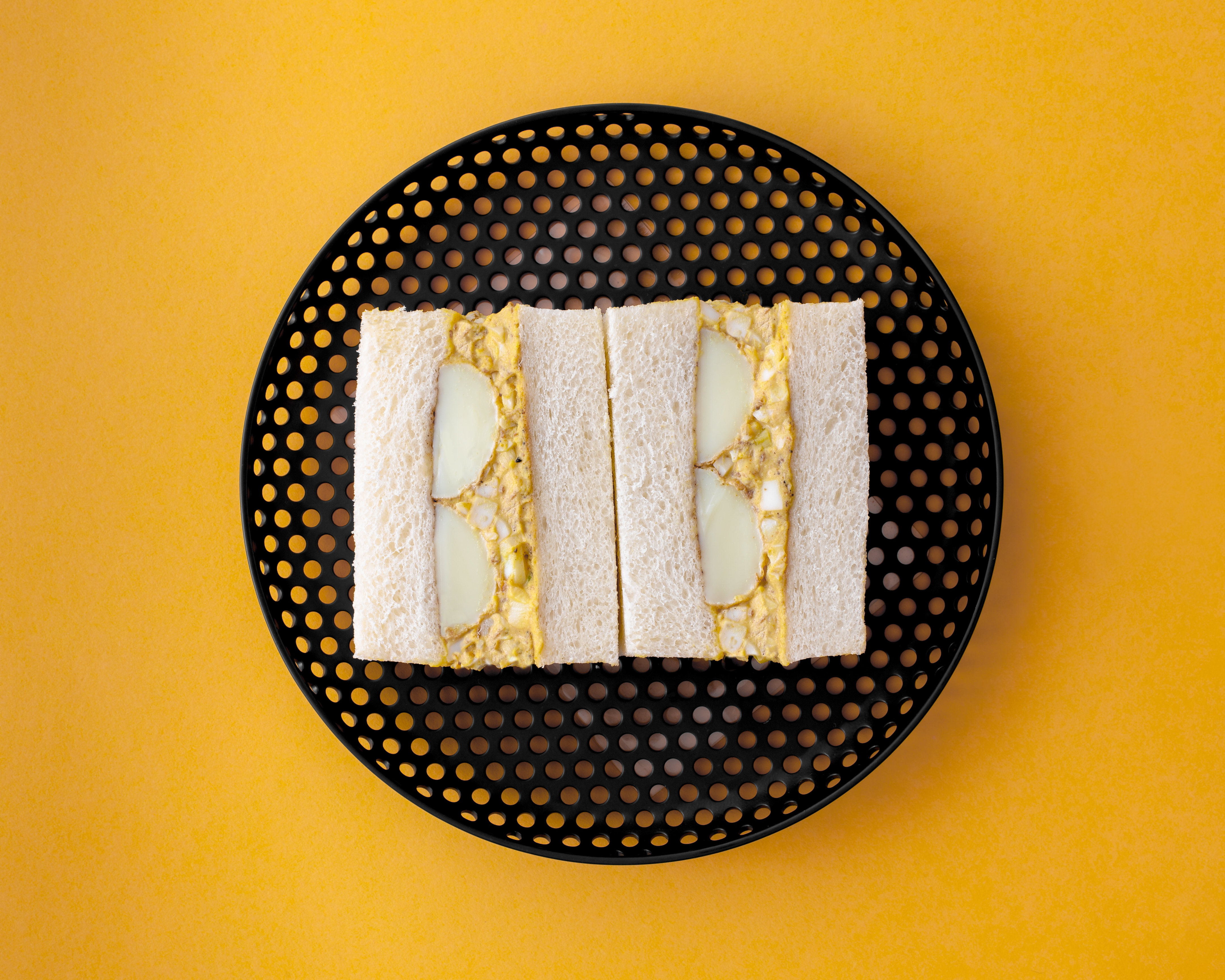 """The """"eggy tofu"""" sando, which is planned for Tóu, a new London restaurant by Tata Eatery's Ana Gonçalves and Zijun Meng"""