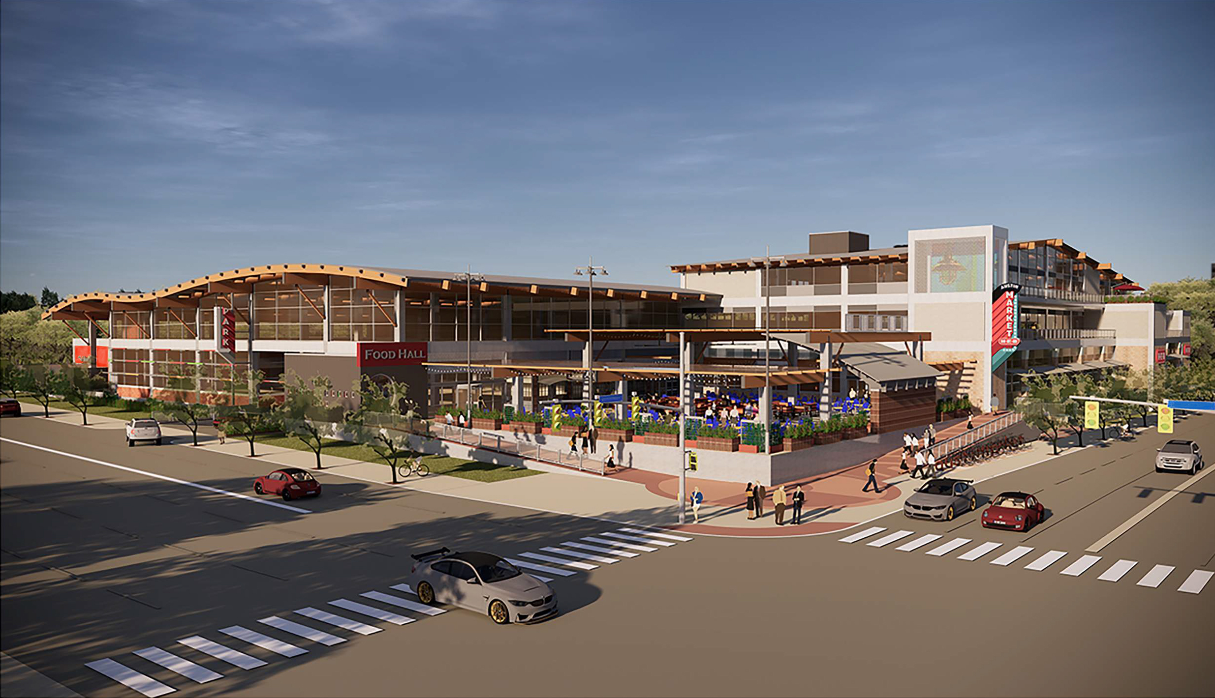 Rendering of the new H-E-B on South Congress