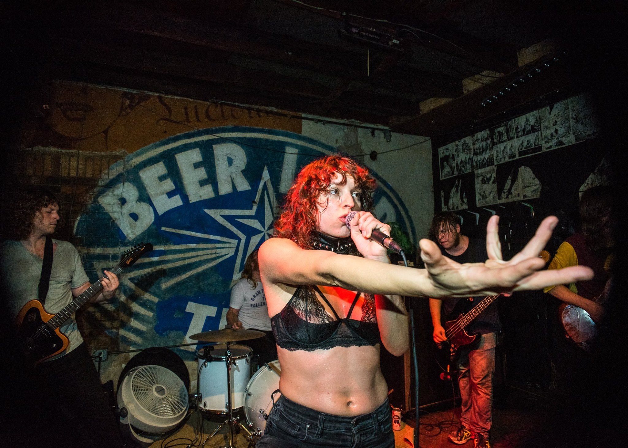 A performance at Beerland