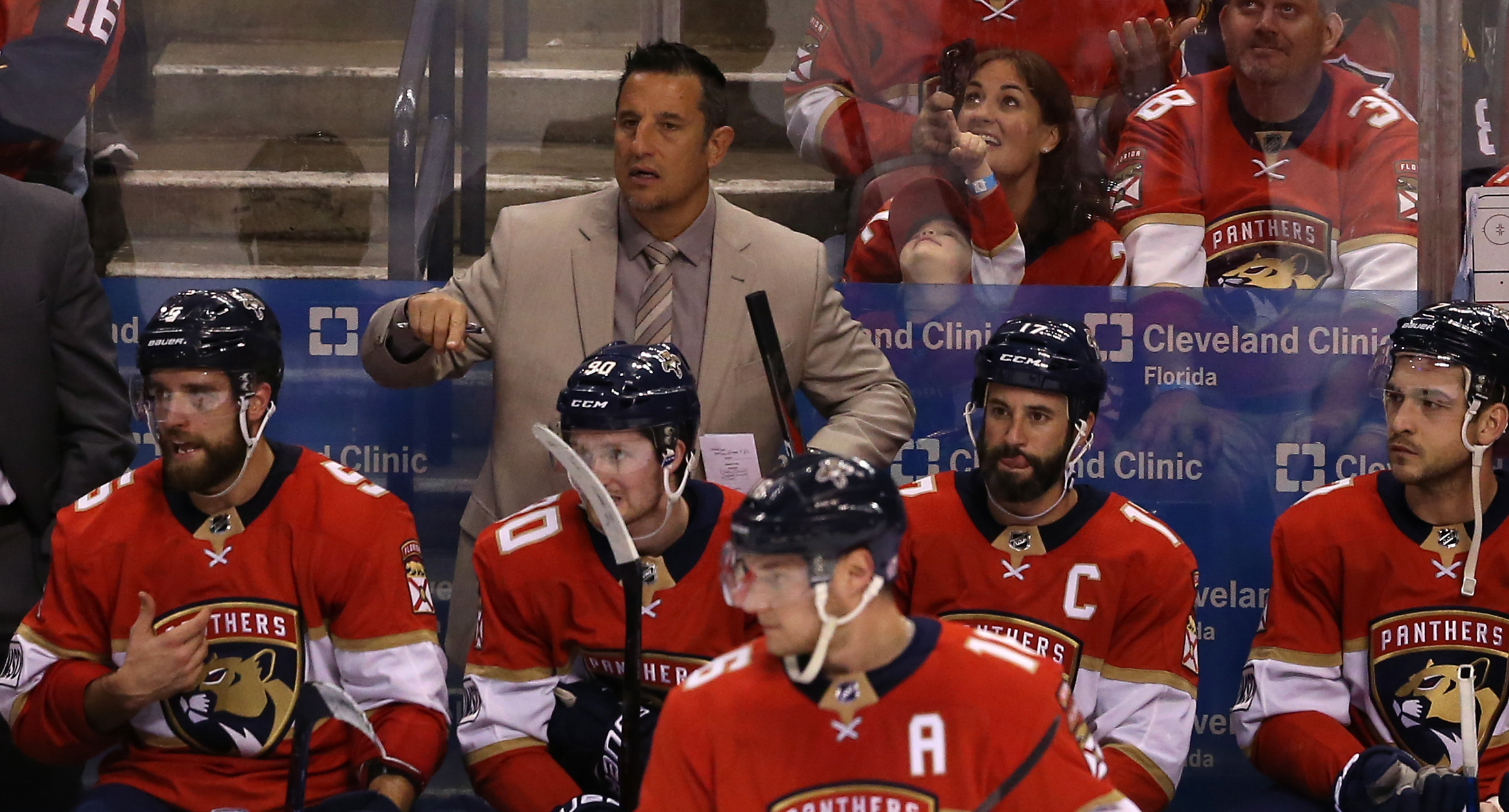 Mar 24, 2018; Sunrise, FL, USA; Florida Panthers head coach Bob Boughner in the second period of a game against the Arizona Coyotes at BB&T Center.