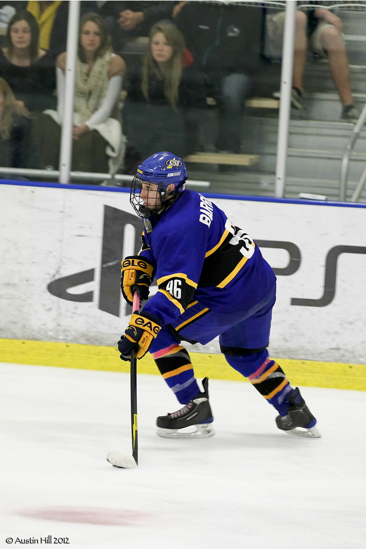 Defenseman Salvatore Barranco will be one of ten players the Spartans will be without tonight.