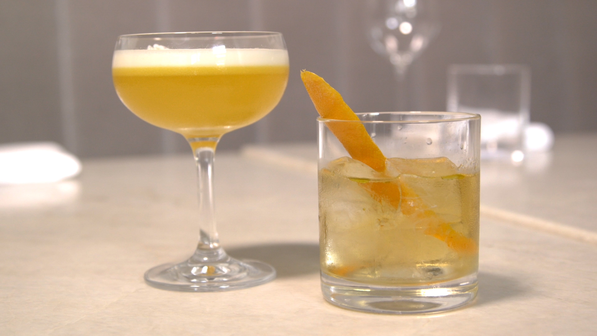 The Sustainable Sour and R&R Old Fashioned, at Brass Heart restaurant, both contain CBD oil.| Brian Rich/Sun-Times