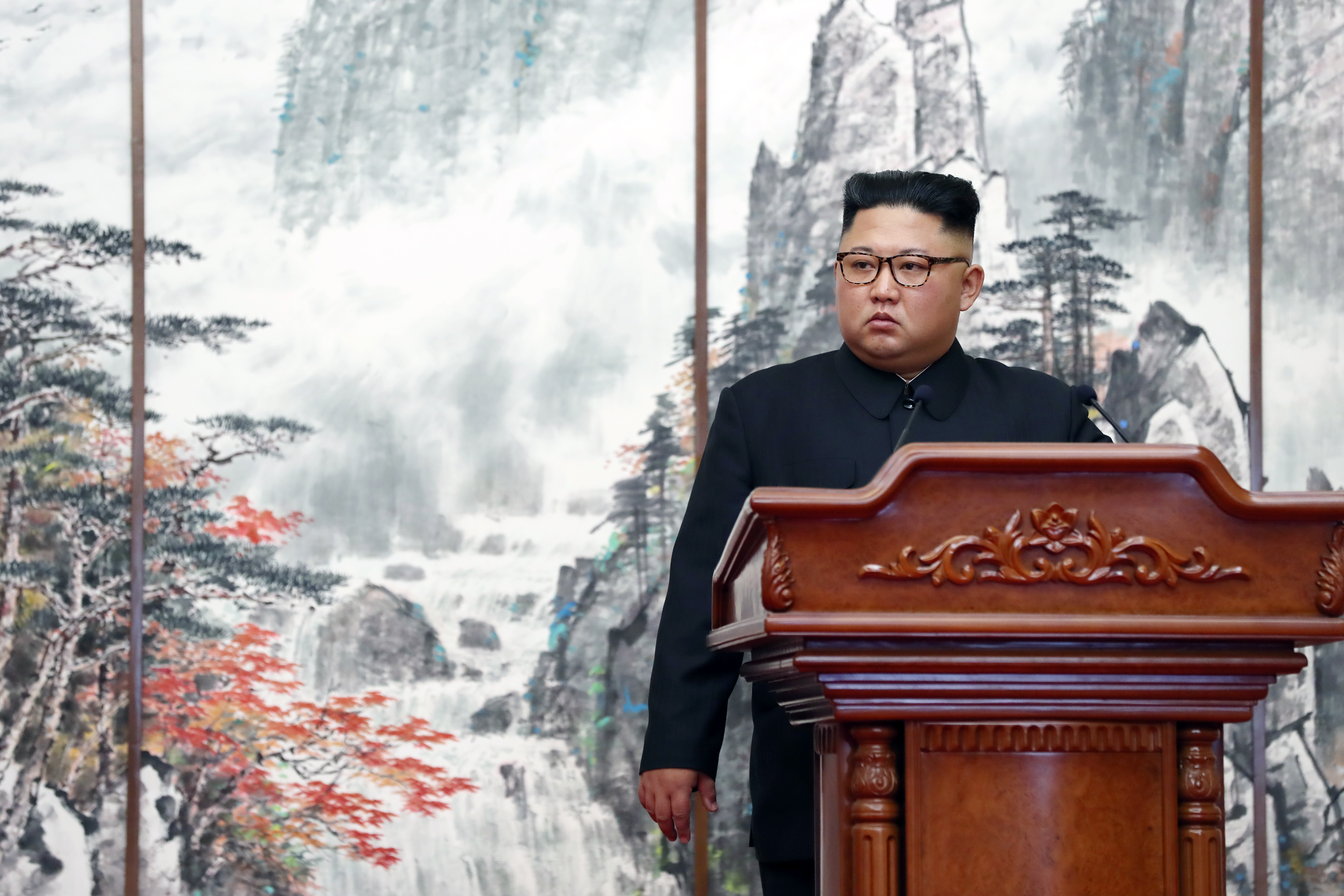 North Korean leader Kim Jong Un on September 19, 2018 in Pyongyang, North Korea.