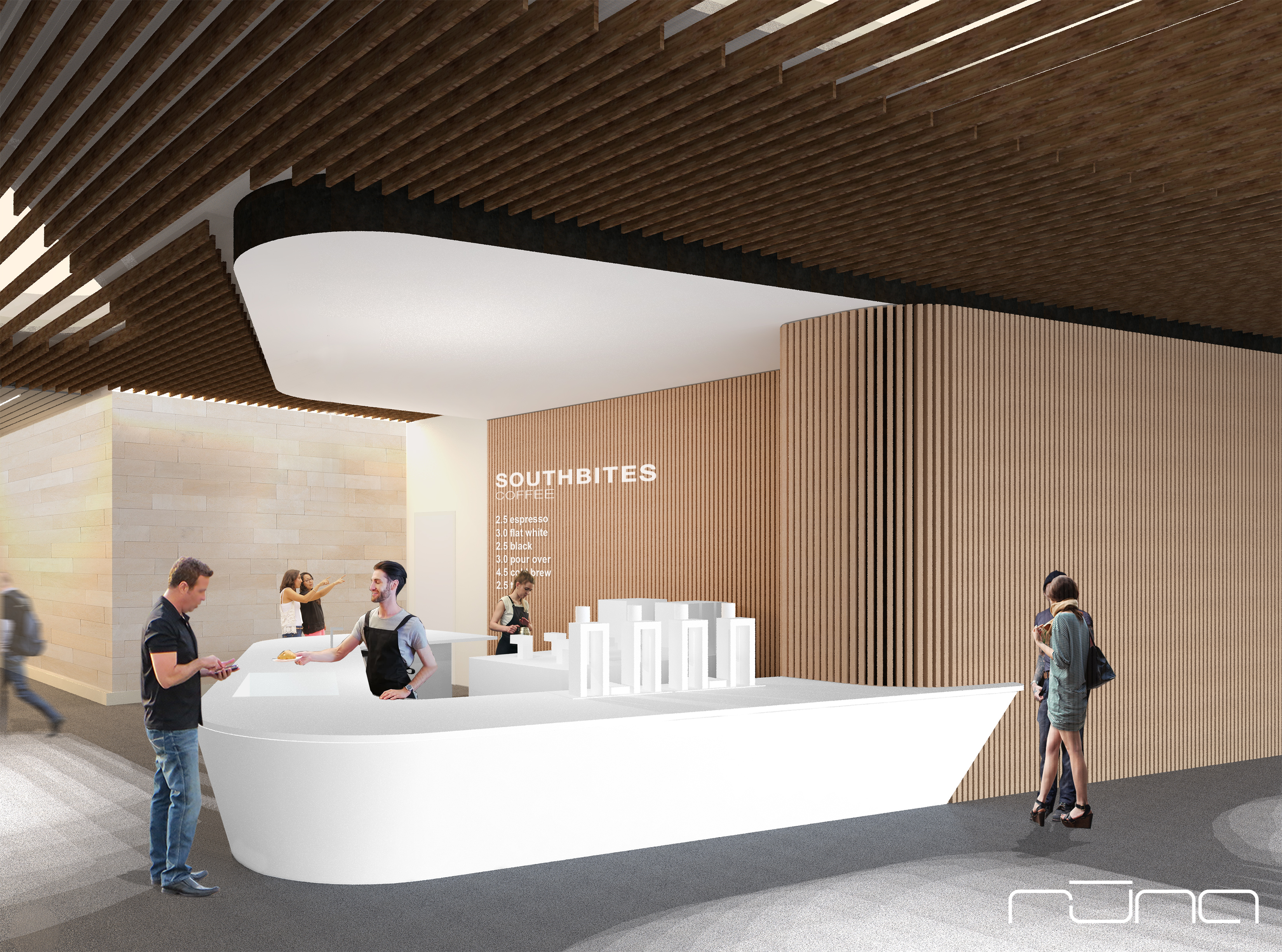 Rendering of SXSW's SouthBites cafe