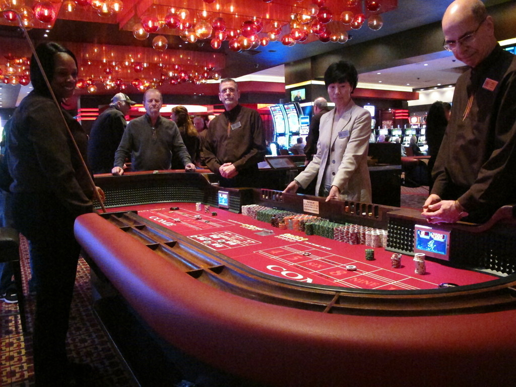 Gamblers play craps in the Golden Nugget casino in Atlantic City N.J., in February. File Photo.