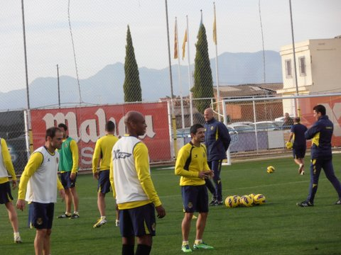 Villarreal at a recent training session
