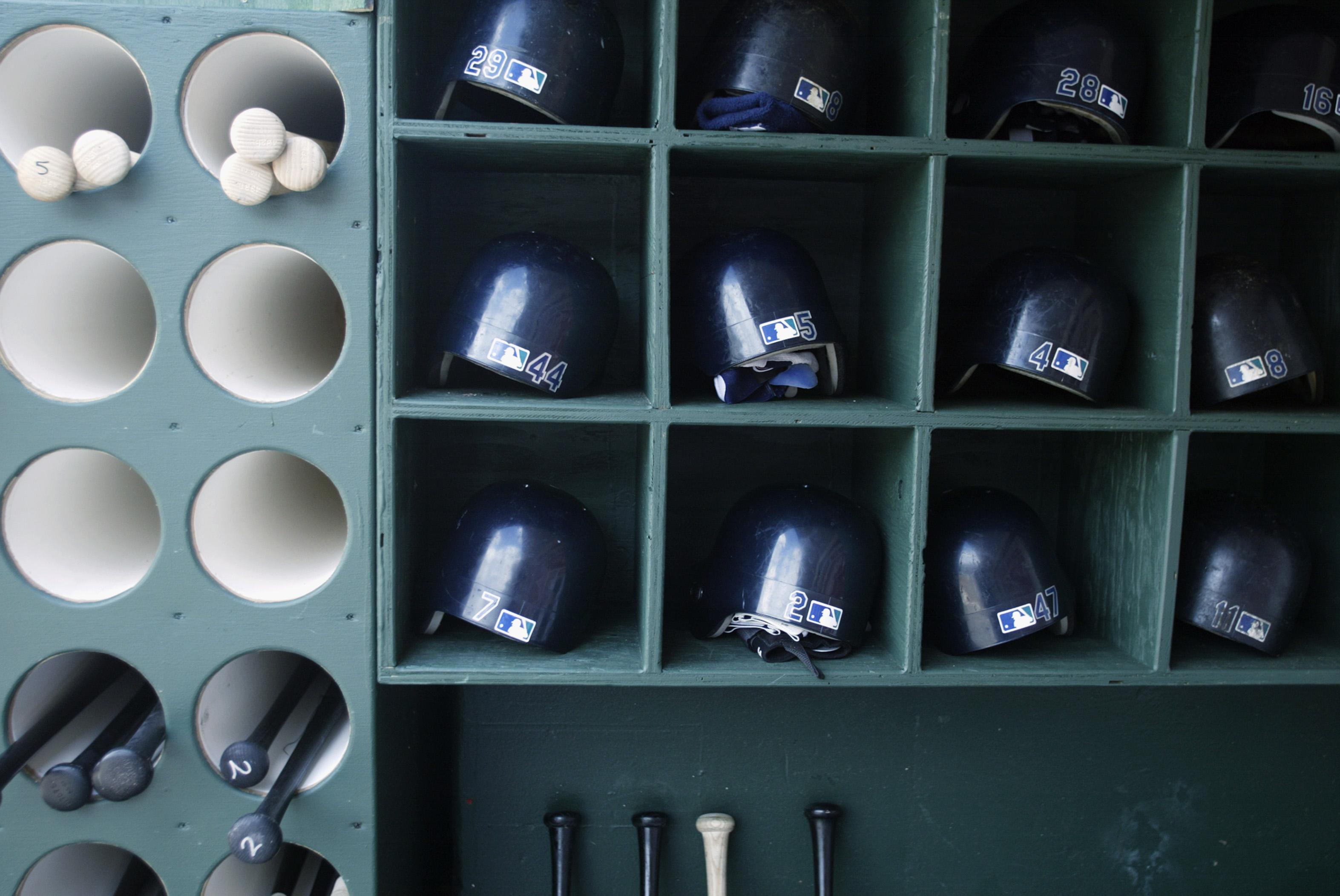 Bats and helmets