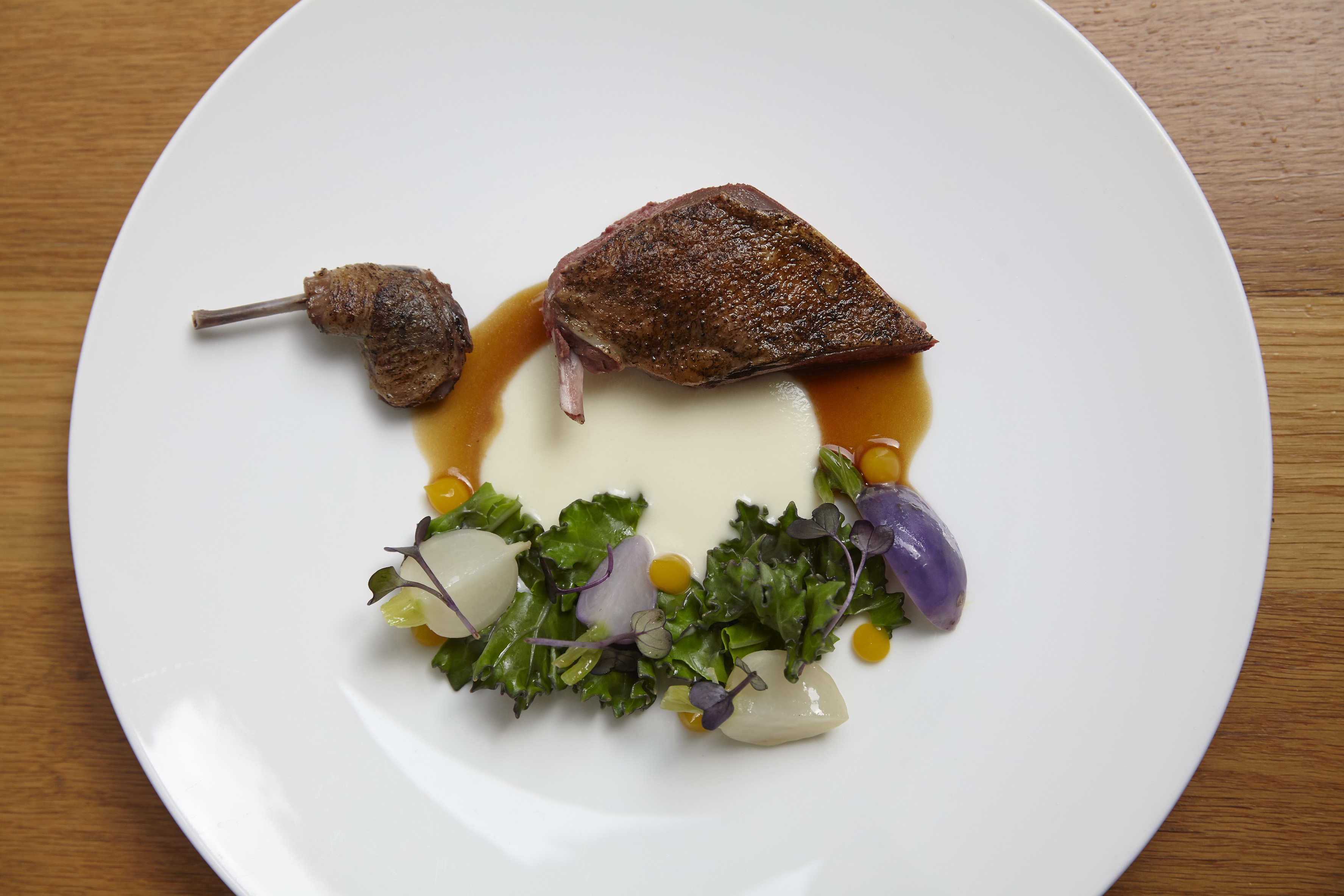 Pigeon, game cooking at Hedone, Michelin-starred restaurant in Chiswick, west London