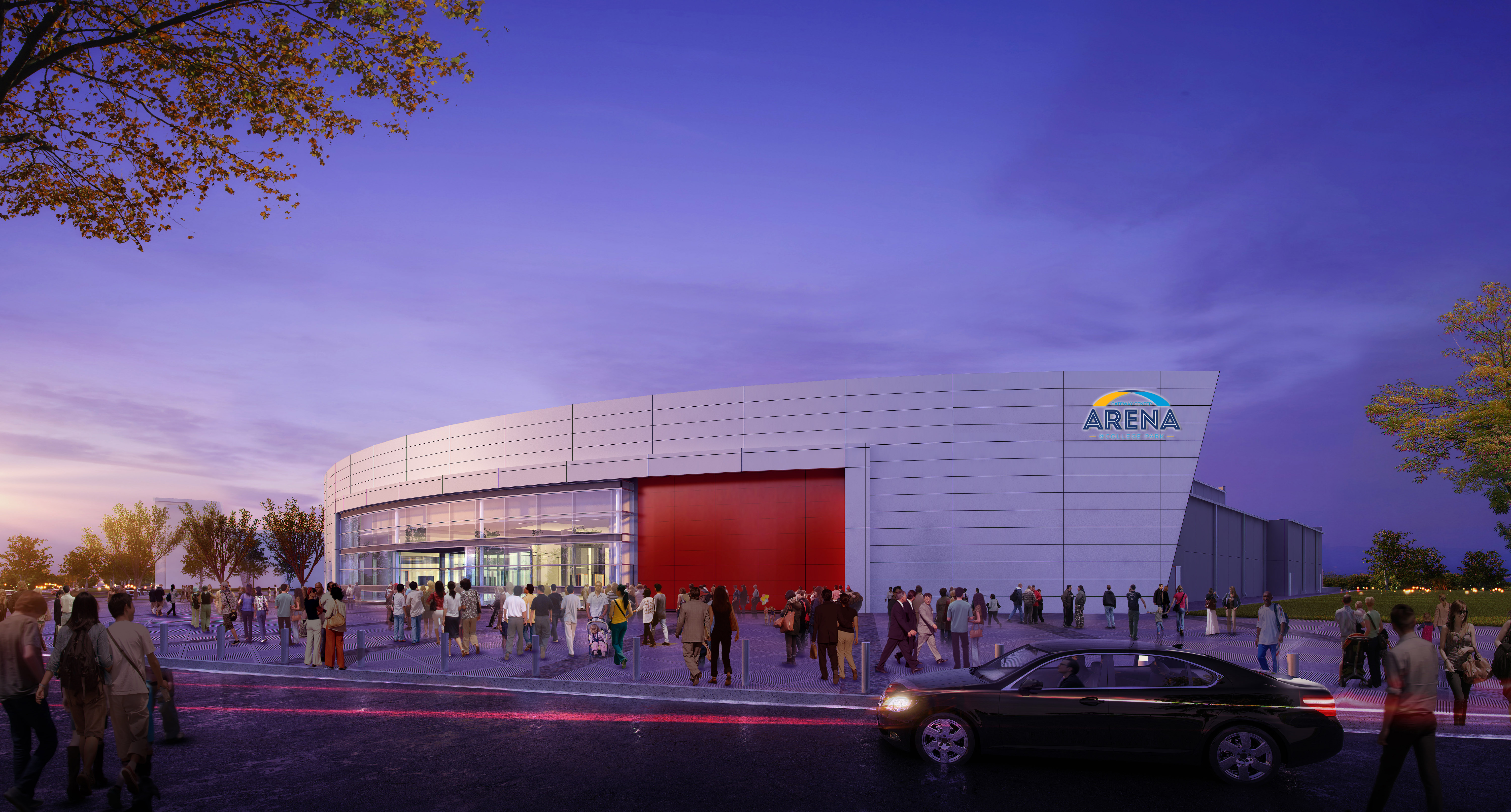 a rendering of the arena