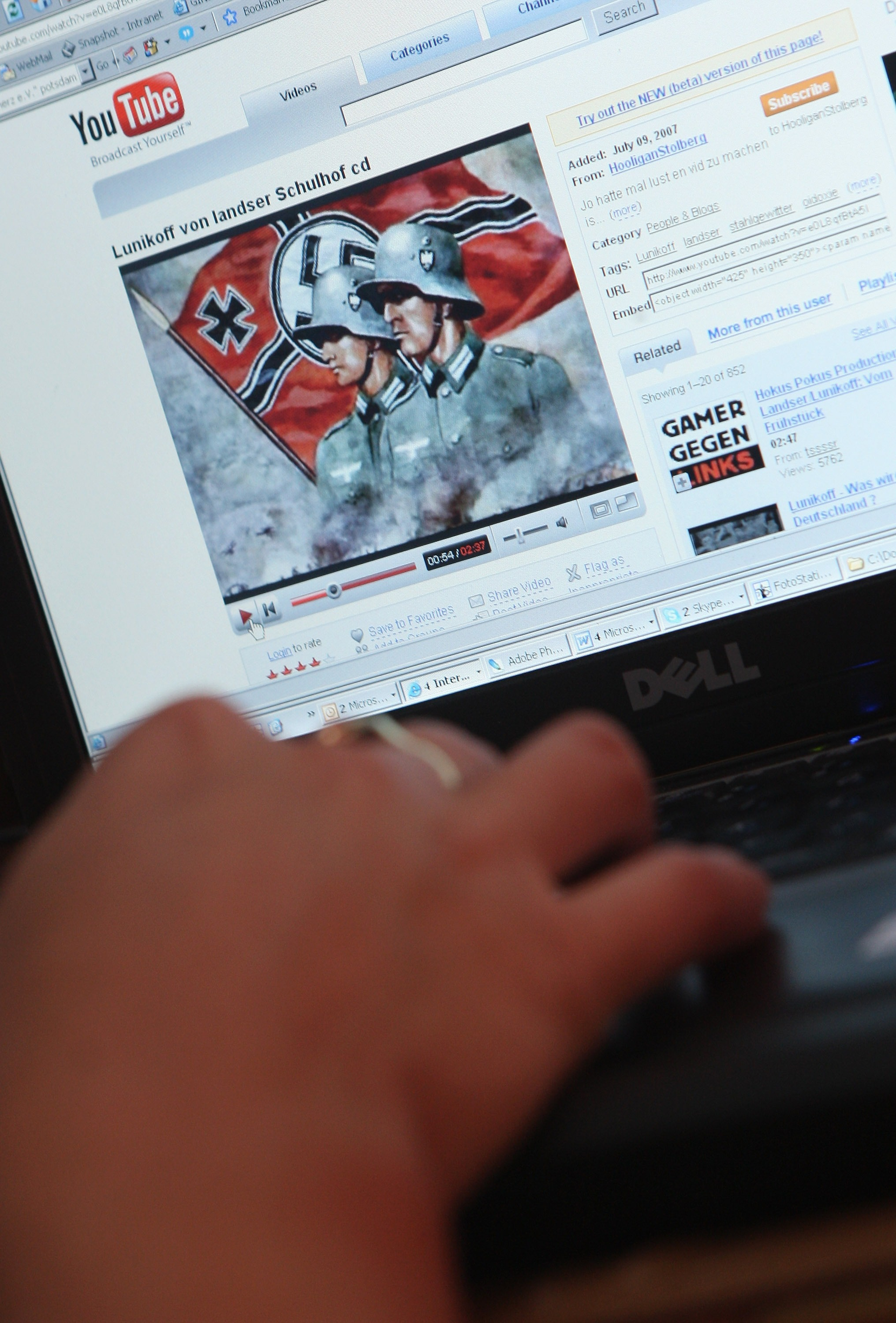 Neo-Nazis Using YouTube for Propaganda