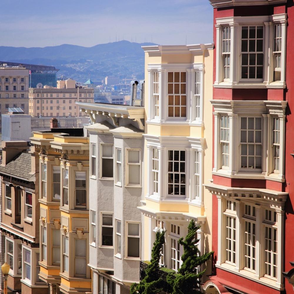 Apartments rising on Nob Hill.