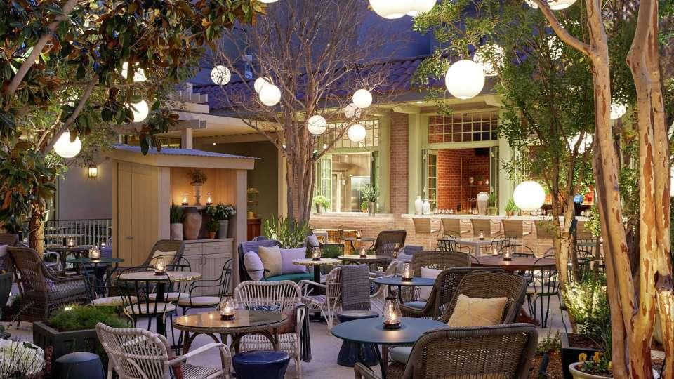 The patio at Primrose